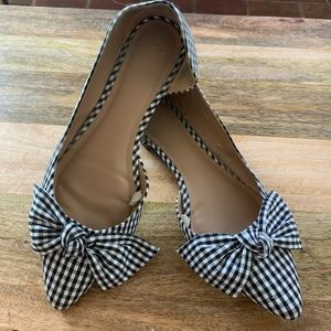 GENTLY WORN - Black and White Checkered Flats